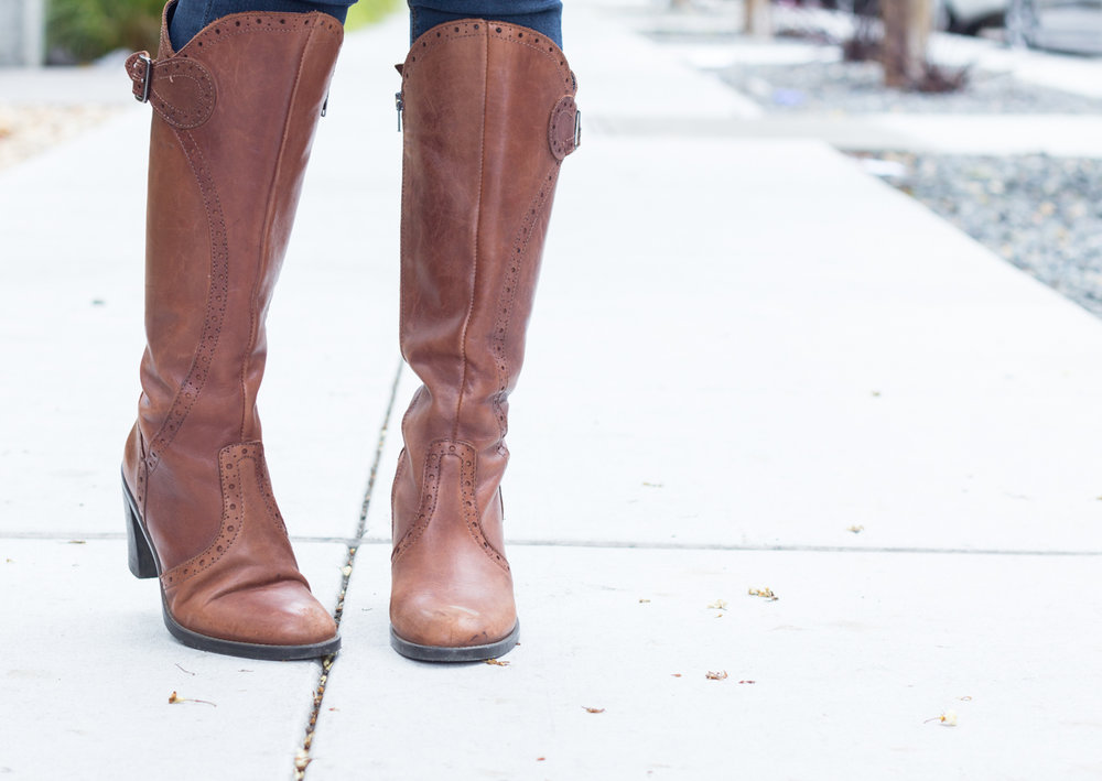 Aldo cognac boots | The Chic Diary