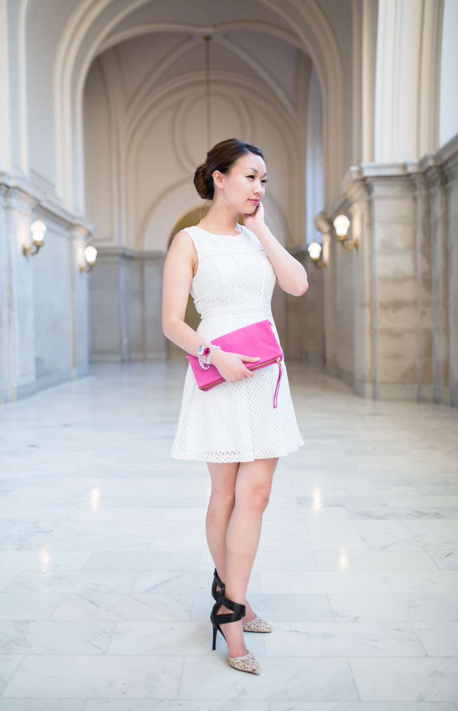 White lace dress | The Chic Diary