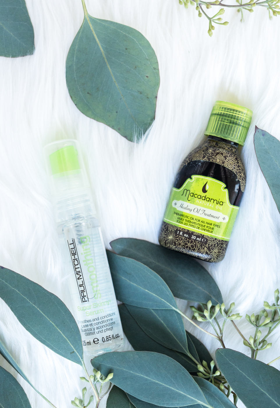 Macadamia Oil Healing Oil Treatment & Paul Mitchell Super Skinny Serum