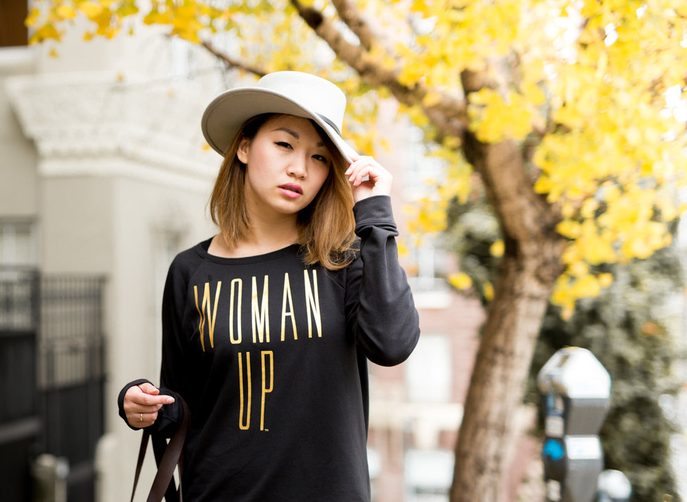 Lucy 'Woman Up' Sweatshirt | The Chic Diary