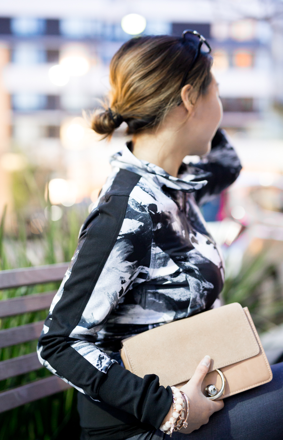 Lucy Abstract Floral Track Jacket | The Chic Diary