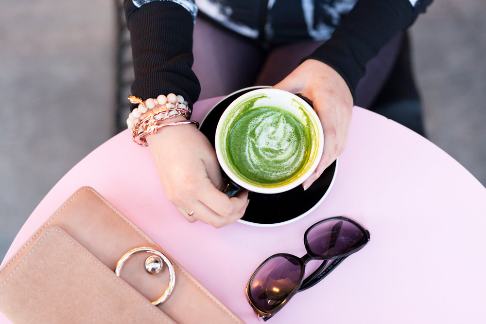 The Limited Rose Gold Bracelets & Cafe Reveille Matcha Latte | The Chic Diary