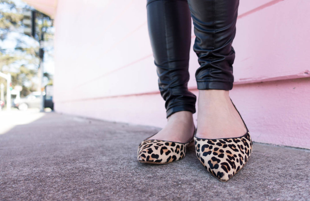 Shoes of Prey Pointed Leopard Flats | The Chic Diary