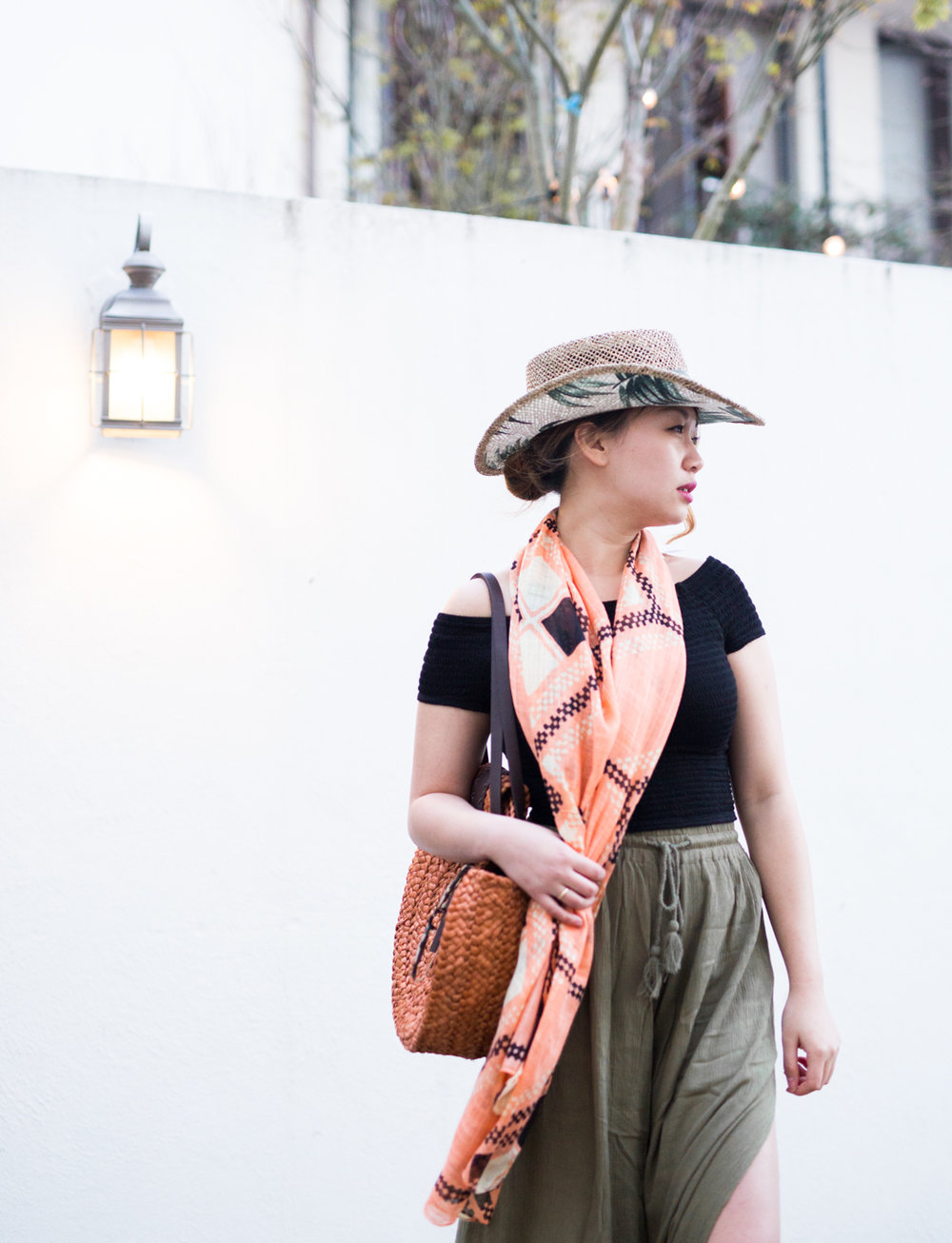 San Diego Hat Company fun geometric scarf print | The Chic Diary
