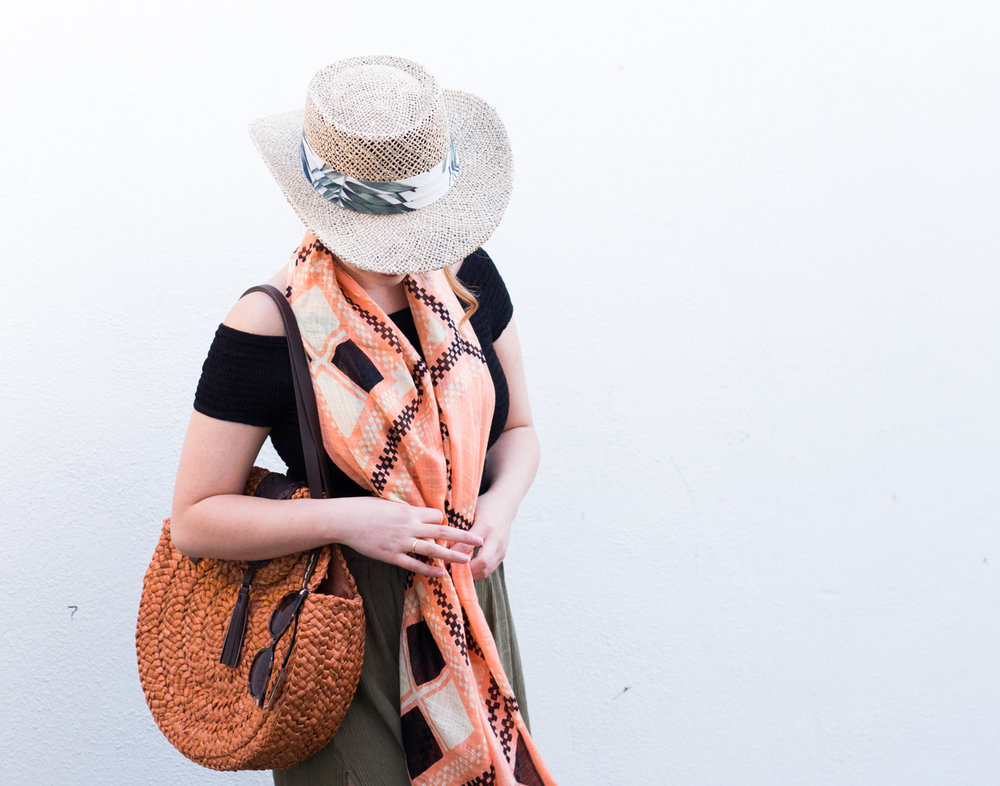 Loving my San Diego Hat Company round cornhusk tote! | The Chic Diary