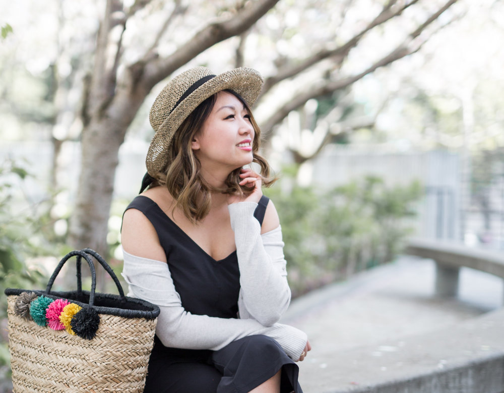 SDHC Straw Hat & Tote | The Chic Diary