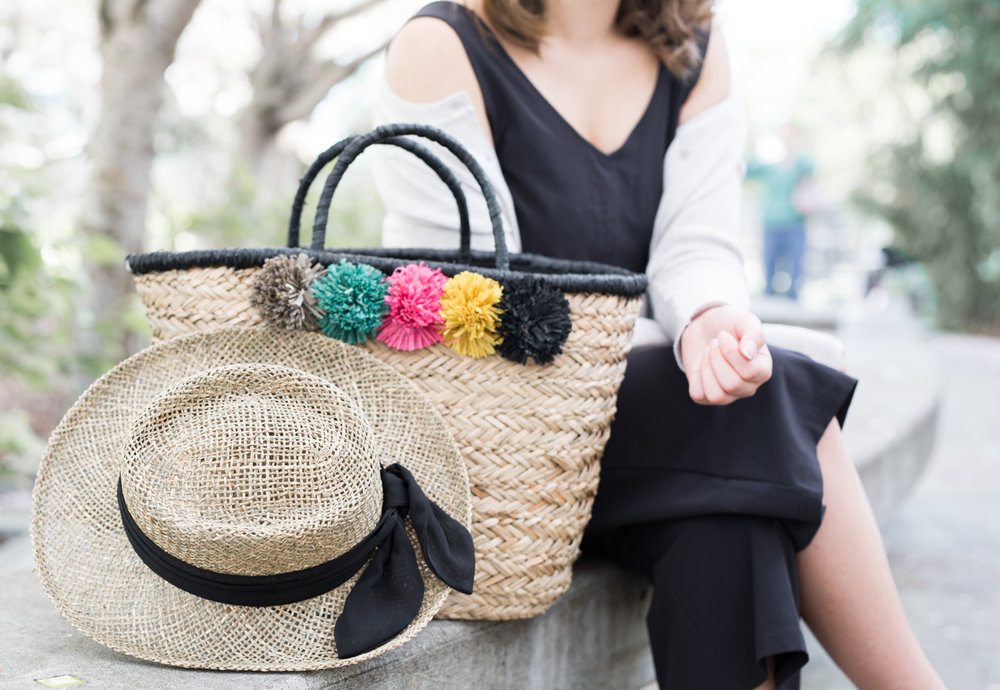 San Diego Hat Company Pom Seagrass Tote & Hat | The Chic Diary