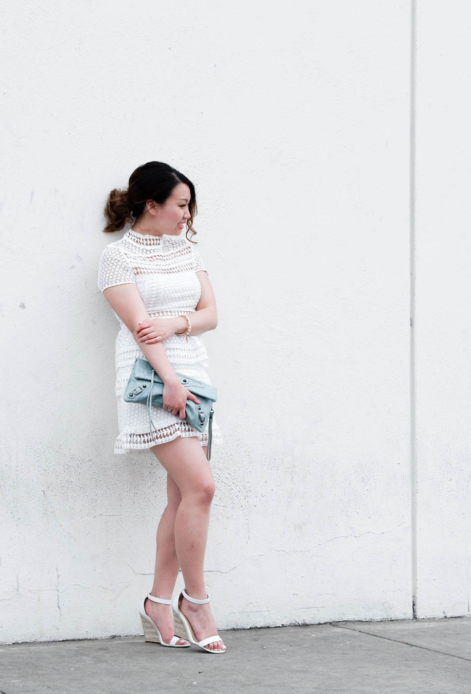 Tobi White Lace Dress | The Chic Diary