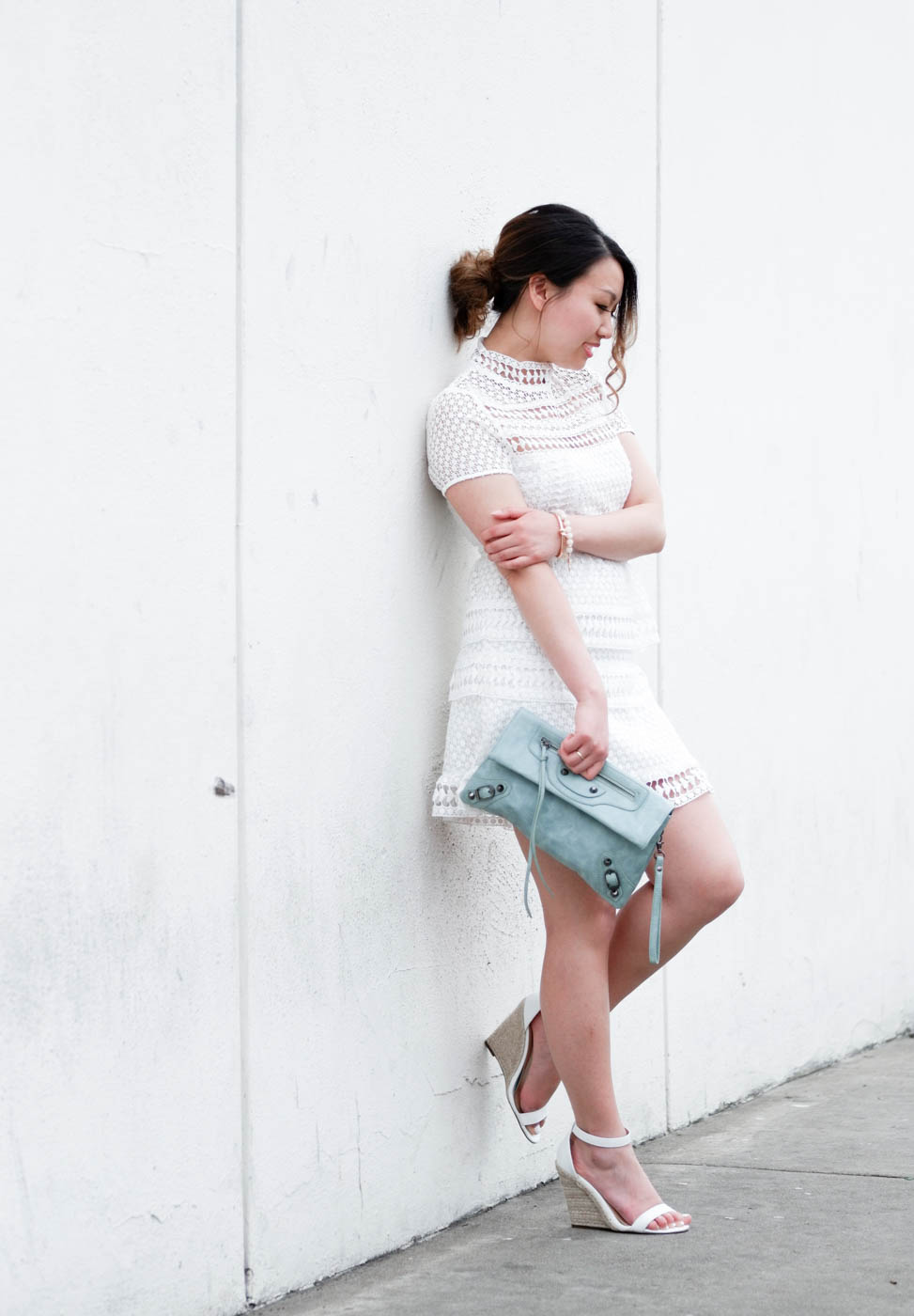 Self Portrait Dupe White Lace Dress | The Chic Diary