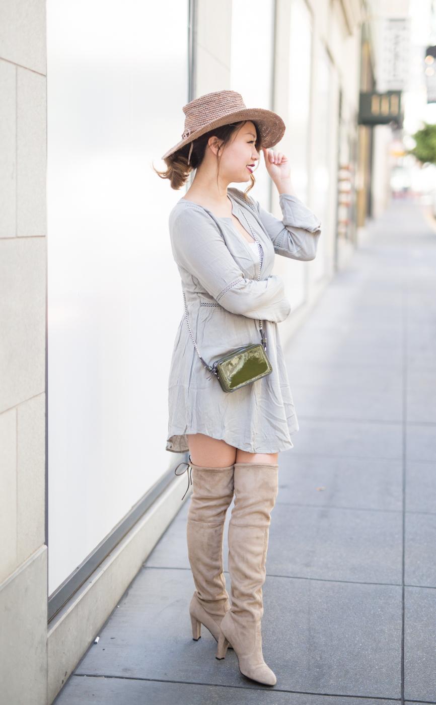 Tobi olive shift dress | The Chic Diary