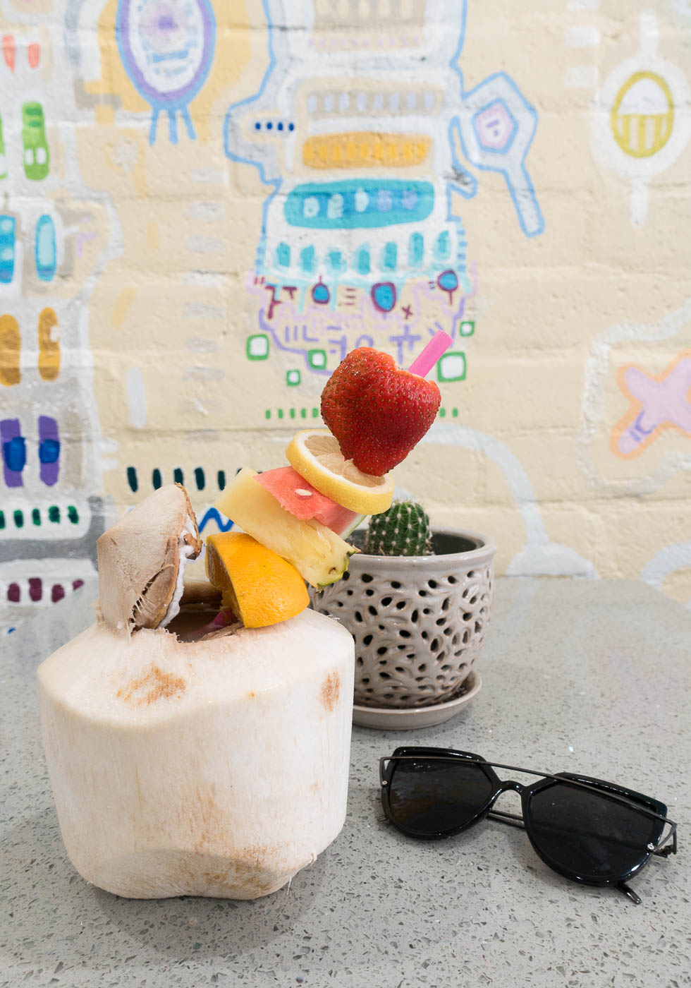 Coconut drink at Fruit Wonders, Palm Springs | The Chic Diary.jpg