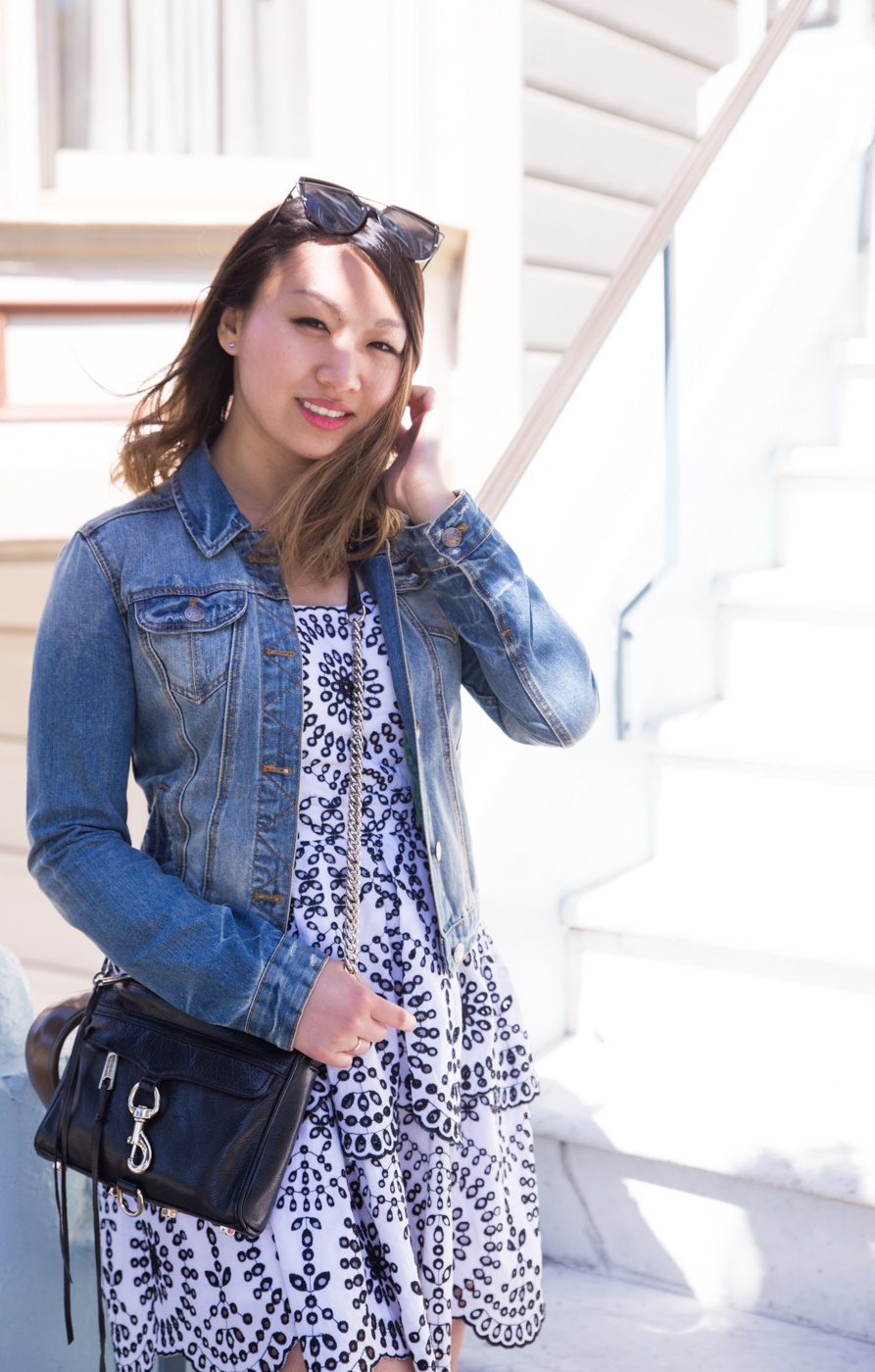 Zara Distressed Denim Jacket | The Chic Diary