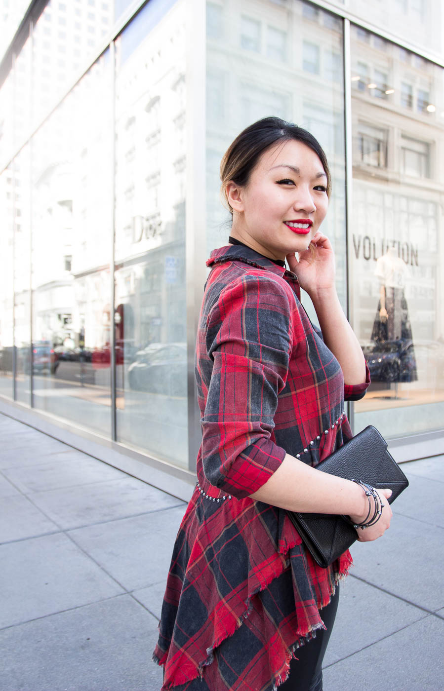 Zara Red Plaid Shirt | The Chic Diary