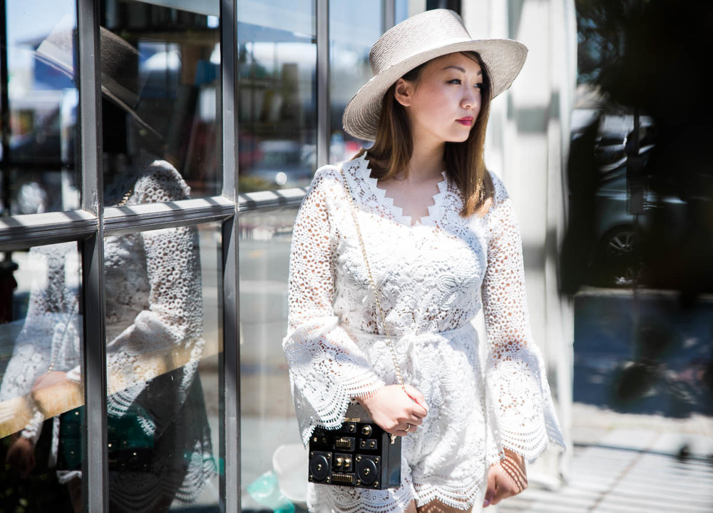 Janessa Leone Gray Bolero Hat | The Chic Diary