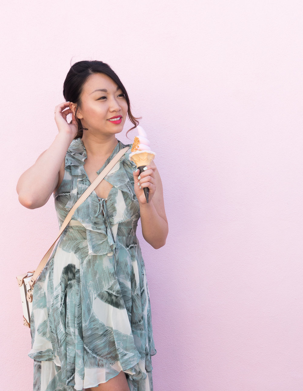 Lulu's Sage Green Print High-Low Dress | The Chic Diary
