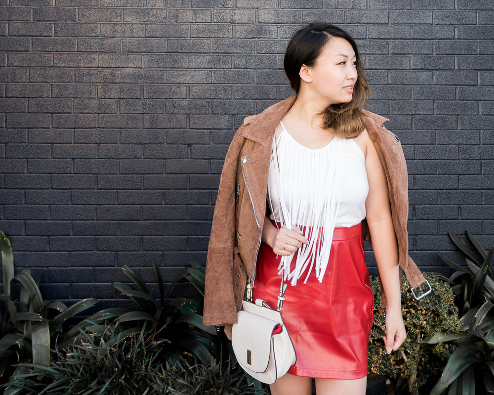 Fashion Union Faux Leather Skirt from ASOS | The Chic Diary