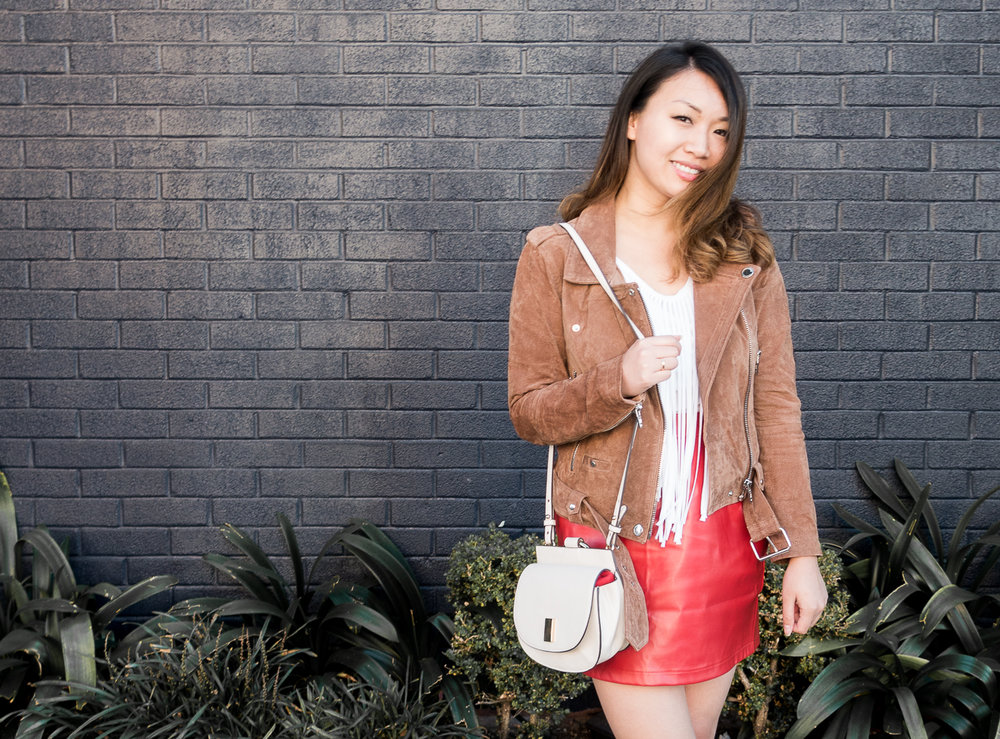 BlankNYC Suede Moto Jacket | The Chic Diary