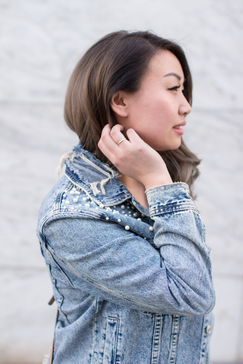Signature 8 Pearl Denim Jacket 2 | The Chic Diary