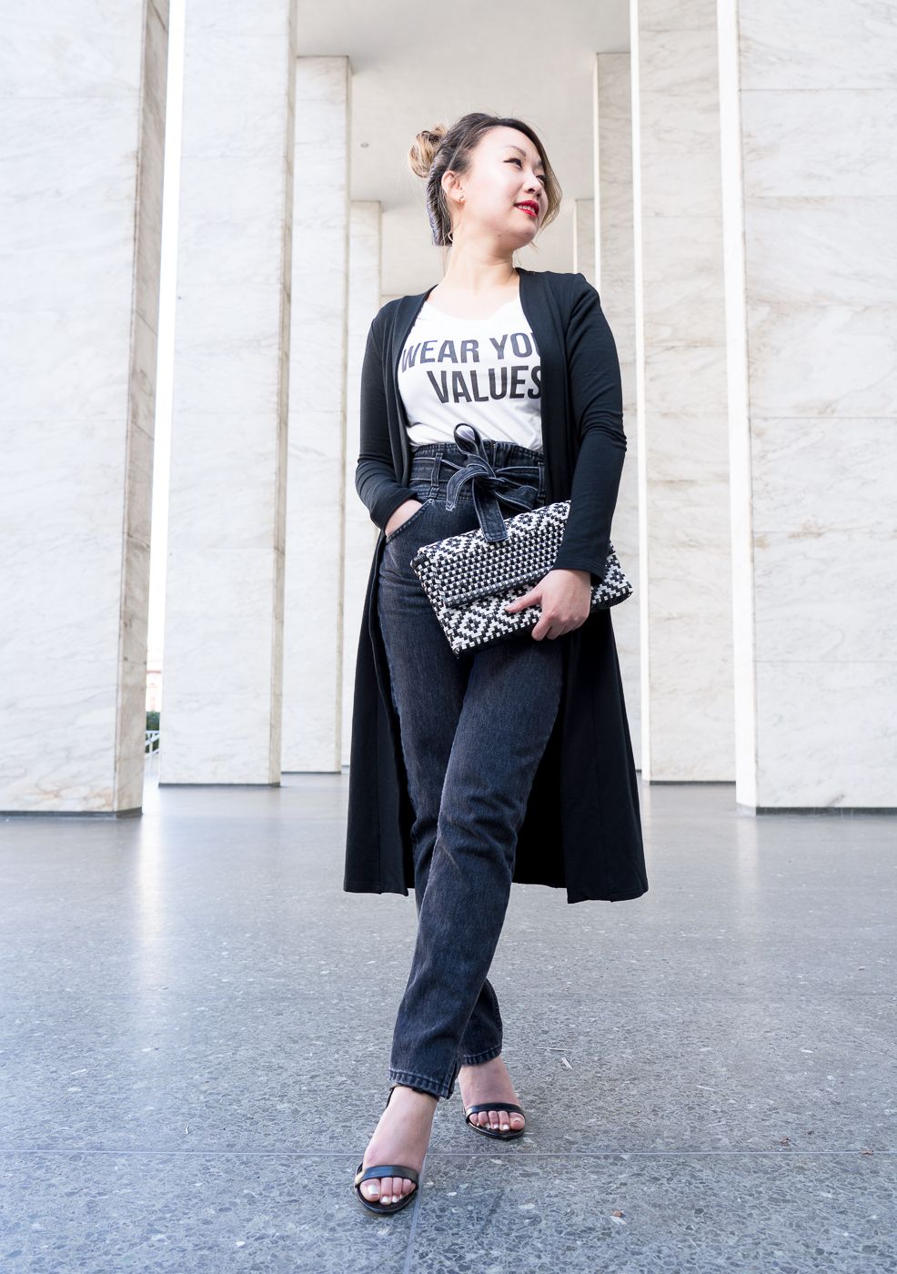 Reformation Black Belted Jeans | The Chic Diary