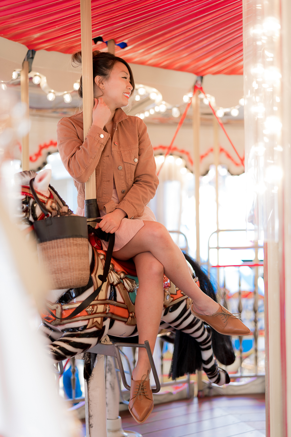 Pier 39 Sustainable Fashion Carousel Shoot | The Chic Diary