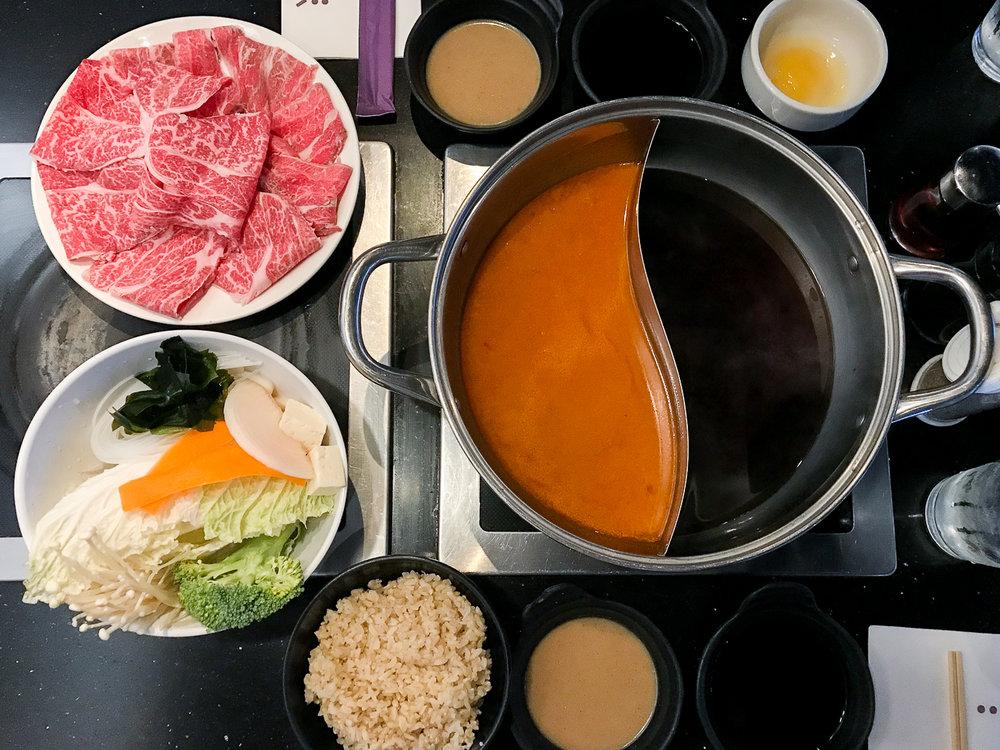 Yojie Japanese Fondue - LA Food Guide | The Chic Diary