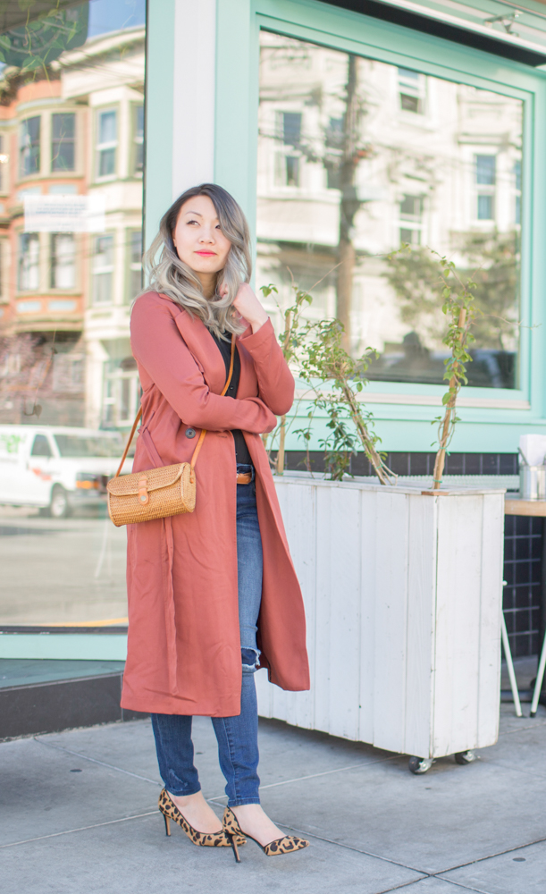 Ellen & James Basket Bag, VETTA duster, DL1961 Emma Jeans | The Chic Diary