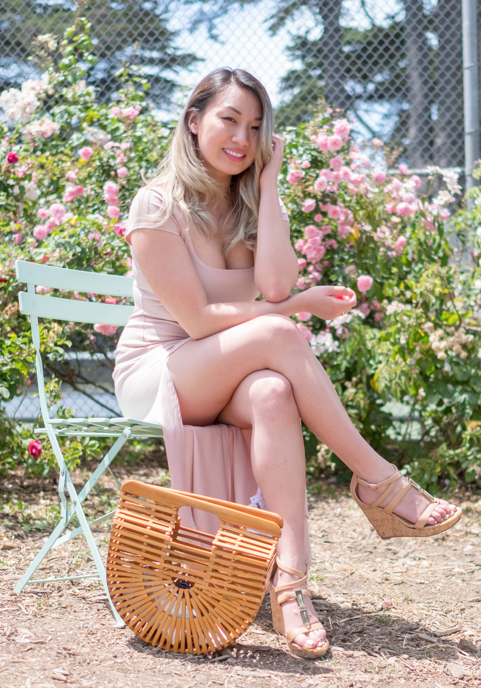 Reformation Harlen Dress in Blush | The Chic Diary