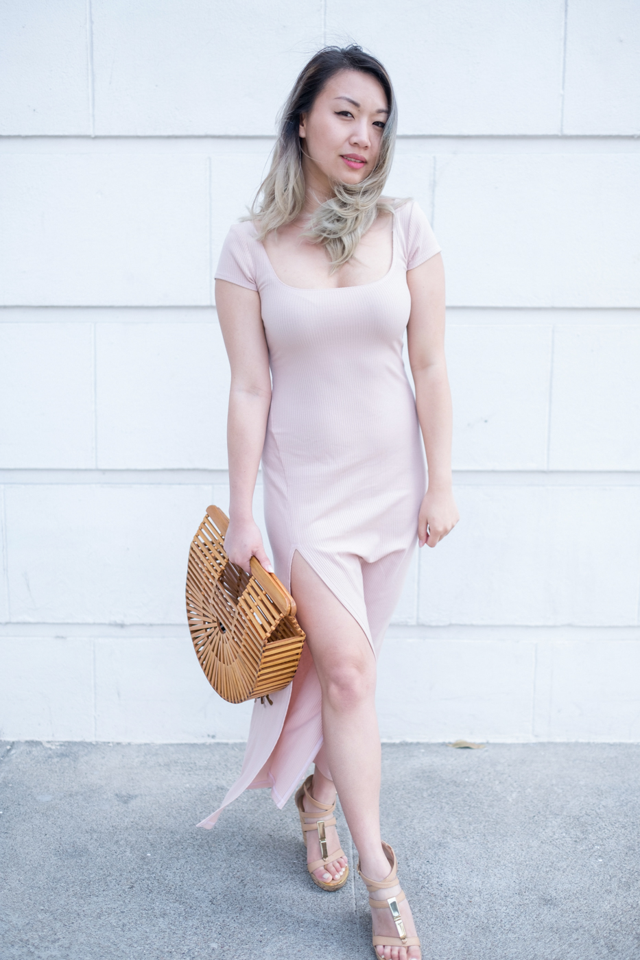 Reformation Harlen Dress - Blush | The Chic Diary