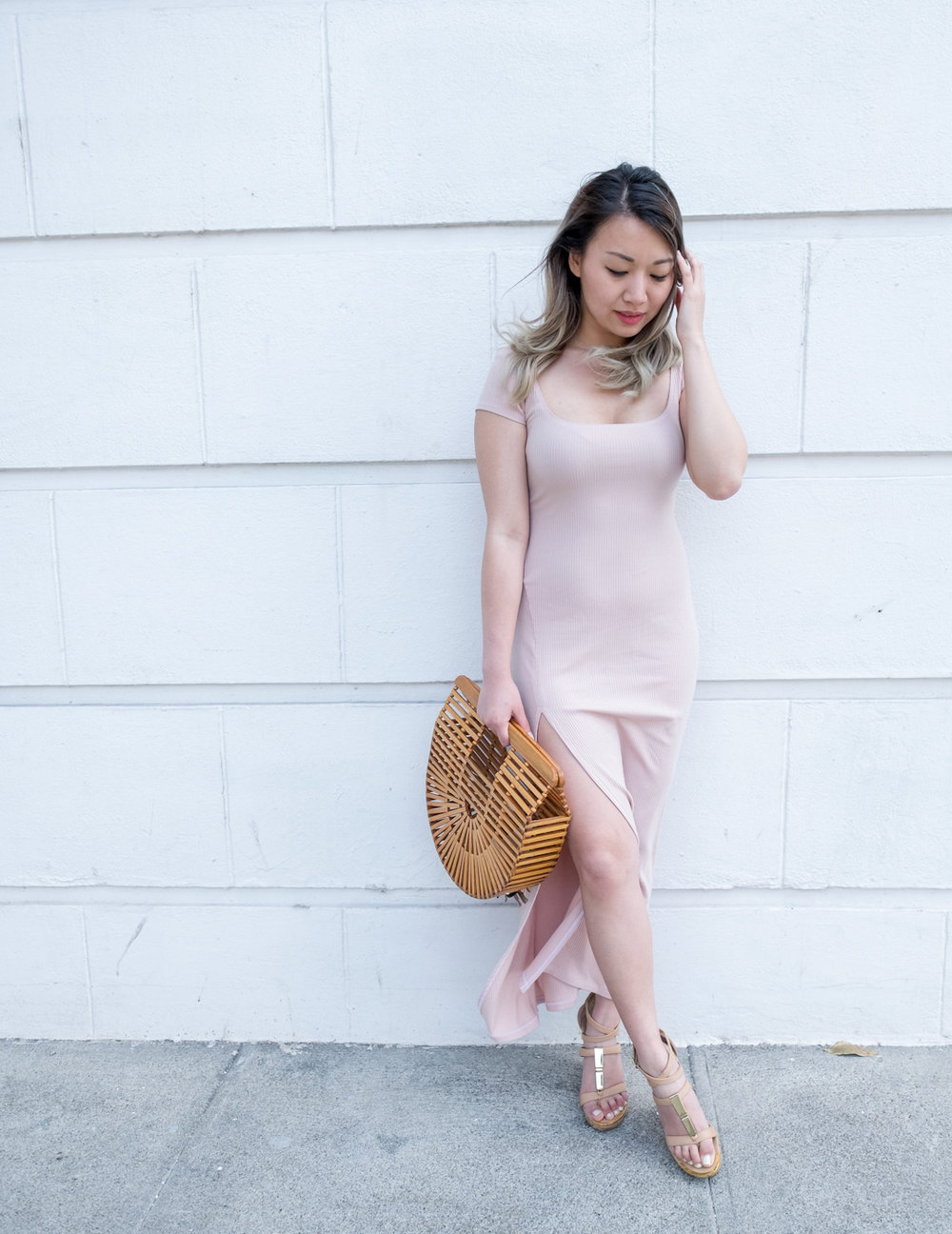 Reformation Blush Dress | The Chic Diary
