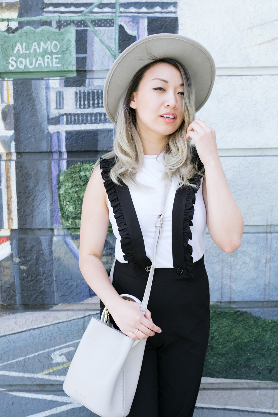 Good Apparel White Mock-Neck Top   The Chic Diary