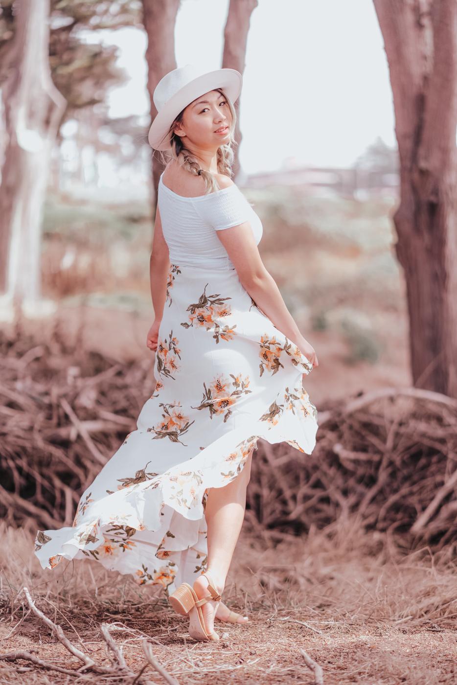 Flynn Skye Orange Blossoms Maxi Skirt | The Chic Diary