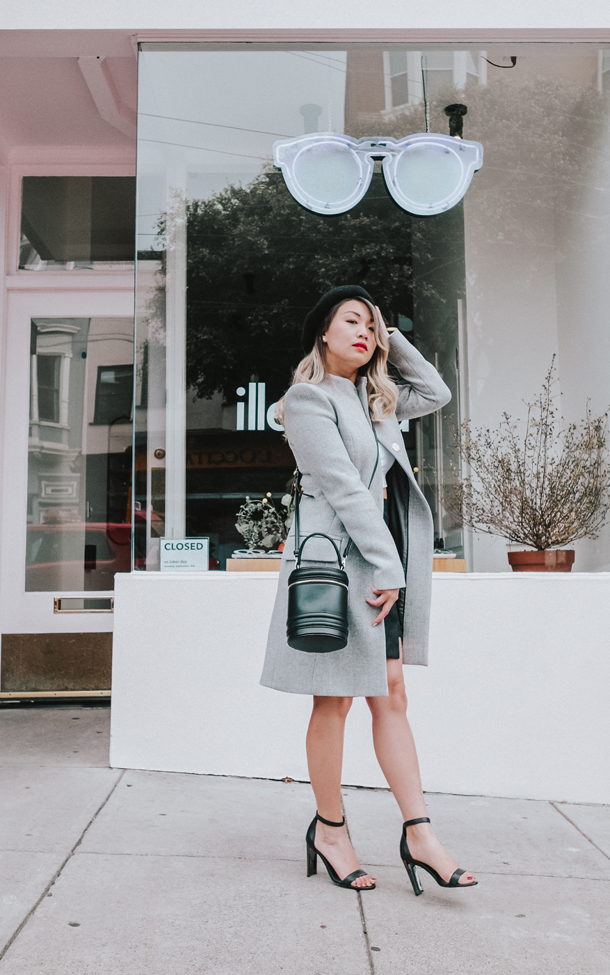 Cue Grey Melange Wool Coat | The Chic Diary
