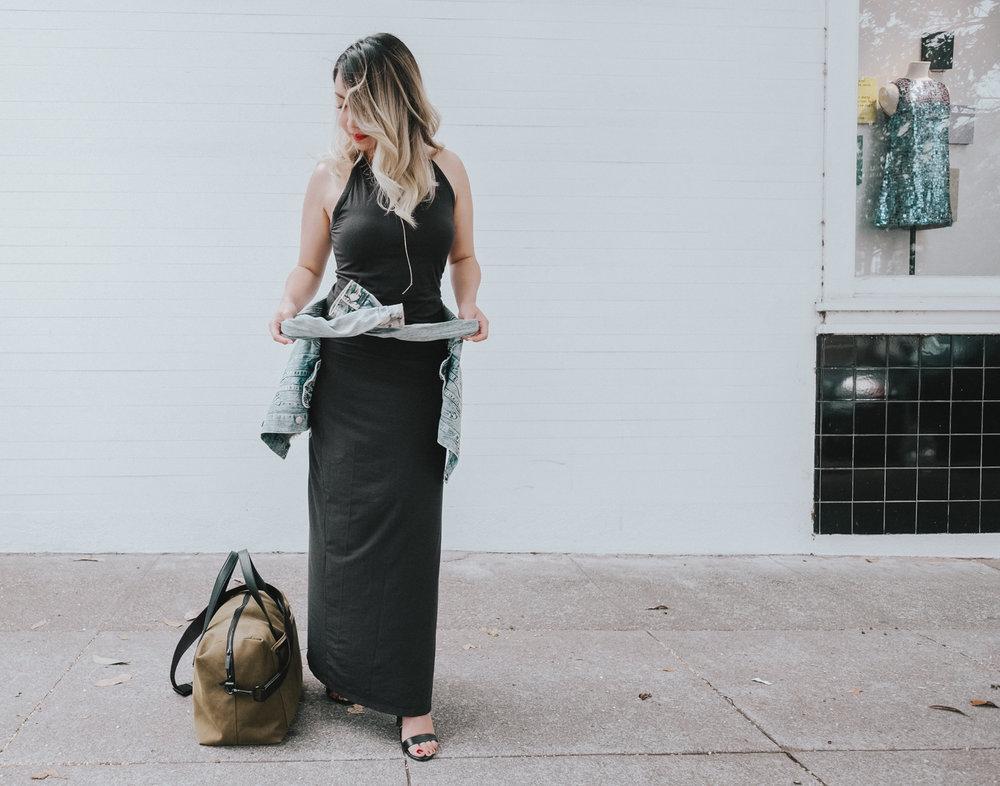 Grana Racerfront Maxi Dress | The Chic Diary