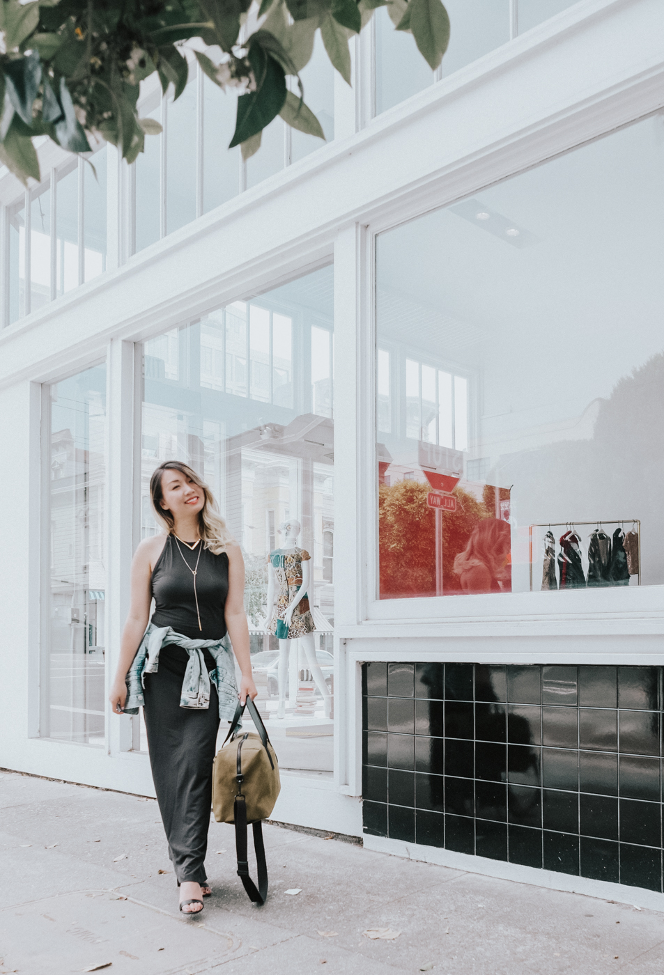 Grana Maxi Dress in Black | The Chic Diary