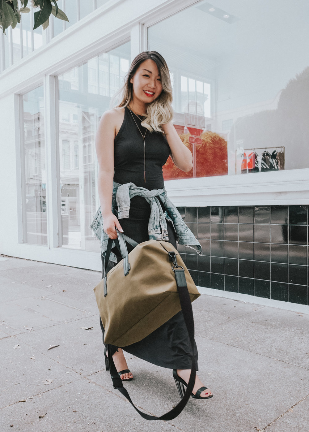 Away The Everywhere Bag in Olive Green | The Chic Diary