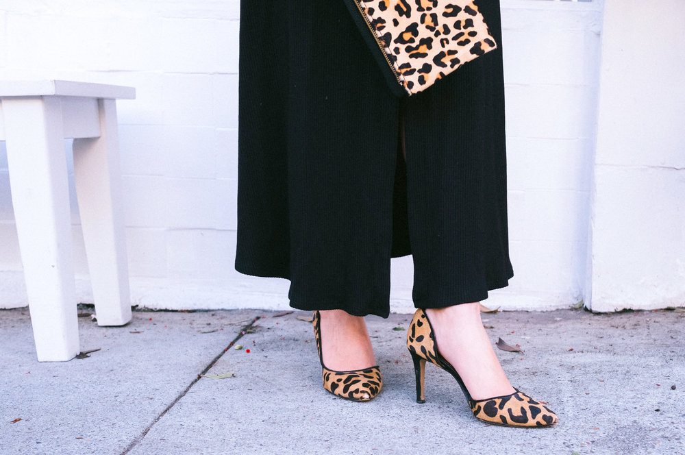 Halogen leopard D'Orsay pumps | The Chic Diary