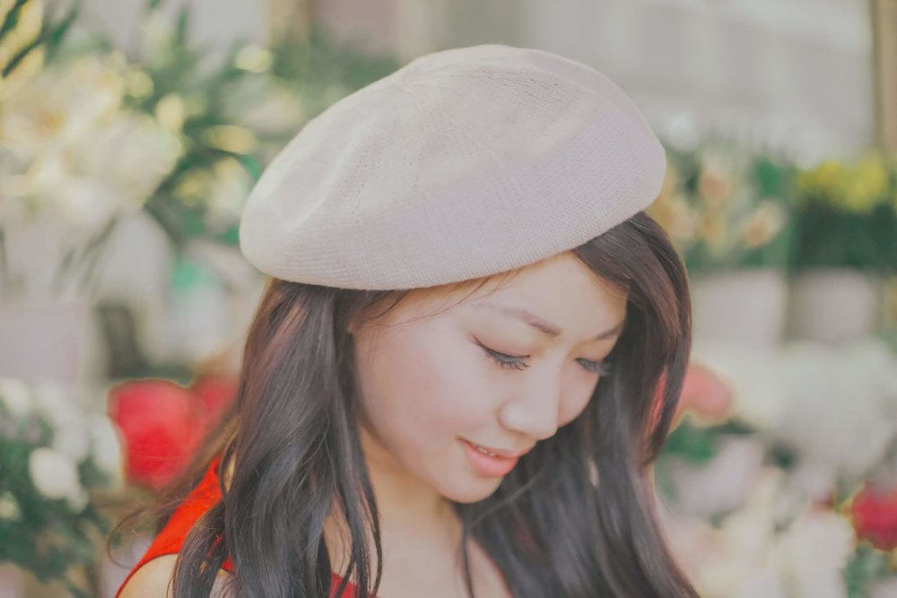 Les Lunes Leather Trimmed Beret | The Chic Diary