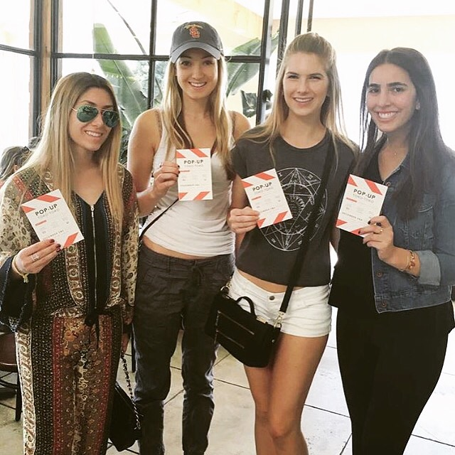 DTLA Babes with Pop-Up Flyers!