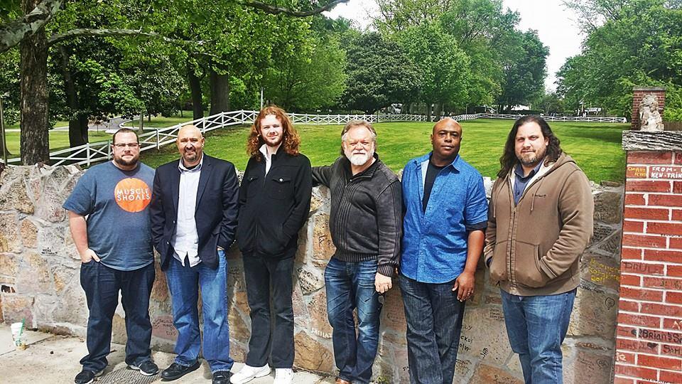 Graceland – 4/28/15  (L-R) Jonathan Fitt, Keith Stone, Isaac Nesbit, James Nesbit, Byron Bishop, Jamie Fitt
