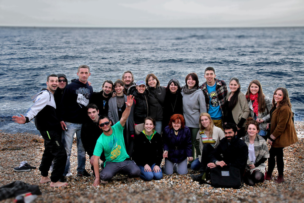 Simply Human project Lyme Regis beach, Dorset 2012.