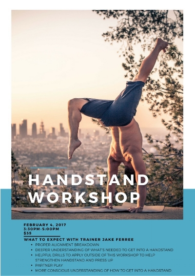 Join Jake for a fun and challenging exploration of the handstand. This workshop will tackle a whole array of awareness based movement and stretching to dissolve fear and create hopeful and playful space to get up into a handstand. This is an excellent opportunity for yogis of all skill levels to advance their handstand practice. Jake has a gift in breaking down poses piece by piece to help each student connect more consciously to their bodies so they too can take flight!
