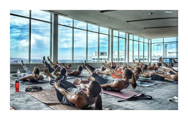 "Look what's back this weekend!!! Rooftop takeover @andazweho this Sunday. If you're in the LA area come check out this class at 9:30am this Sunday.  The Andaz indoor panorama room is beautiful and they give us 20% brunch after class!! Click ""get tickets"" in bio to reserve and more info!  Hope to see you there!"