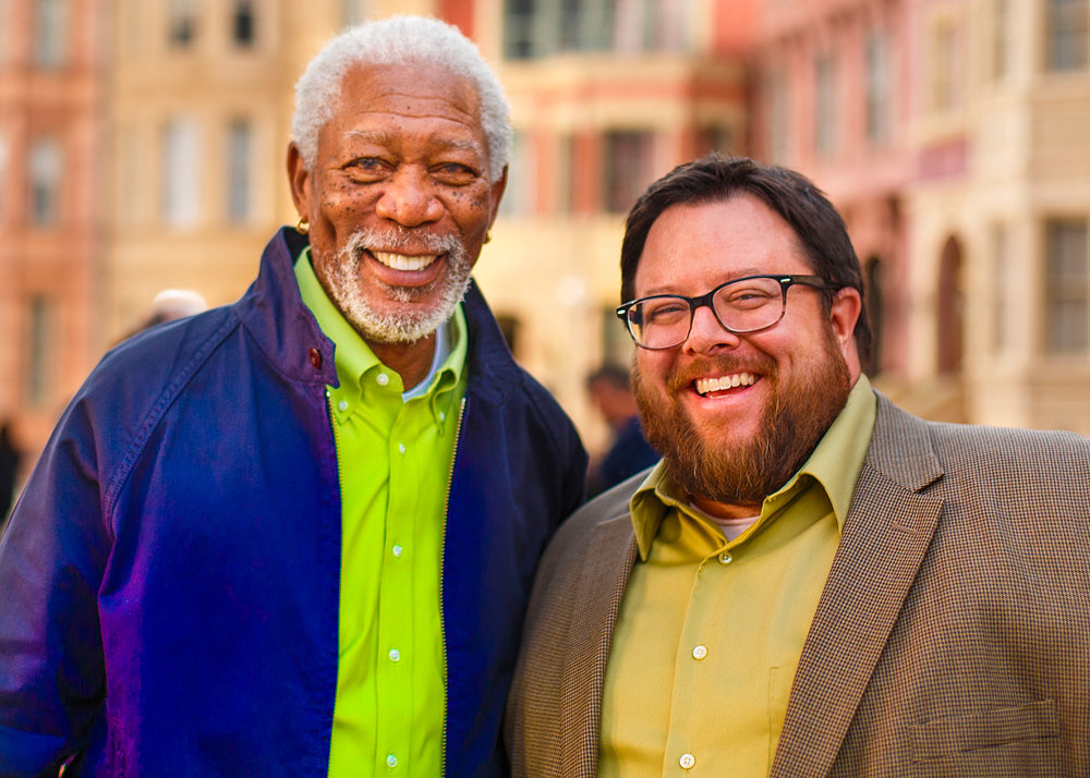 Tony Teofilo and Morgan Freeman