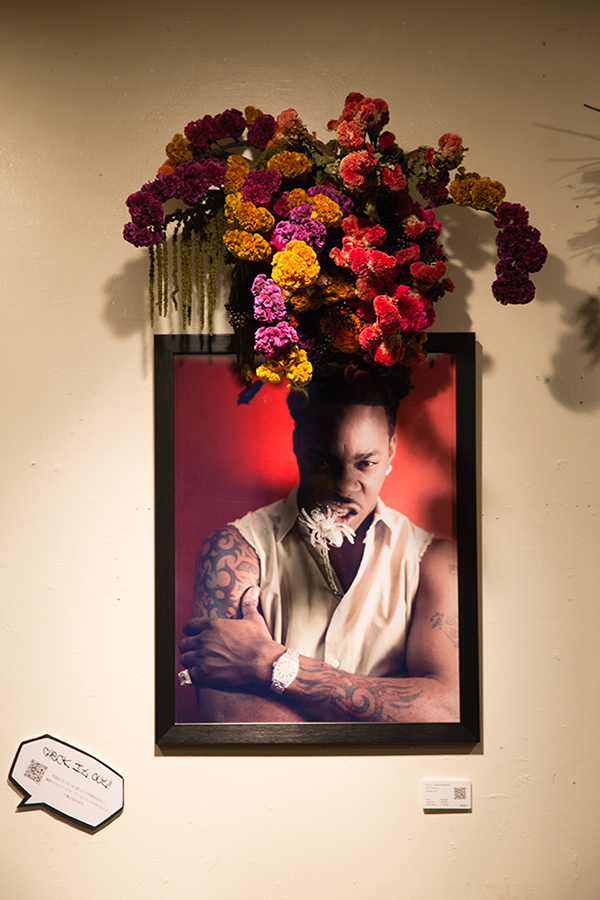 New York Before Zeros vol.2  Photo Exhibition @ Nos Ebisu  1/27-2/27/2015  Busta Rhymes Photo w/ Mami Yamamoto Flower Decoration