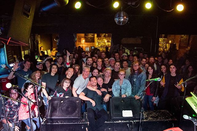 I'm still in awe from last night. I'll cherish the memories of that show for the rest of my life. Thank you so, so much to everyone who came out, to everyone who couldn't but wanted to, and to everyone who has been a part of my life in Denver until now. I'm going to miss you! . Thank you to @oldseabrigade For sharing his birthday show, for @myfeverband for starting the evening off, and to @lostlakedenver For hosting the evening! Thank you to @michellechristiancephoto for the photos! . . . . #denver #morningbearmusic #morningbear #crowd #livemusic #denvermusic #concertphotography #family #friends #friendshipgoals #love #indie #folk #indiefolk