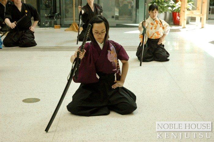 Iaijutsu ceremony at Koshashin