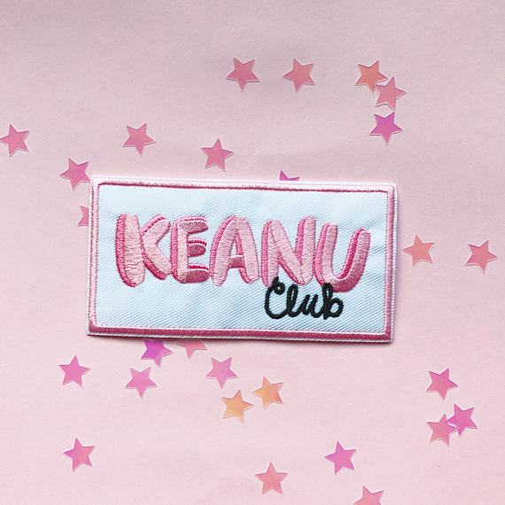 Keanu Club iron on patch