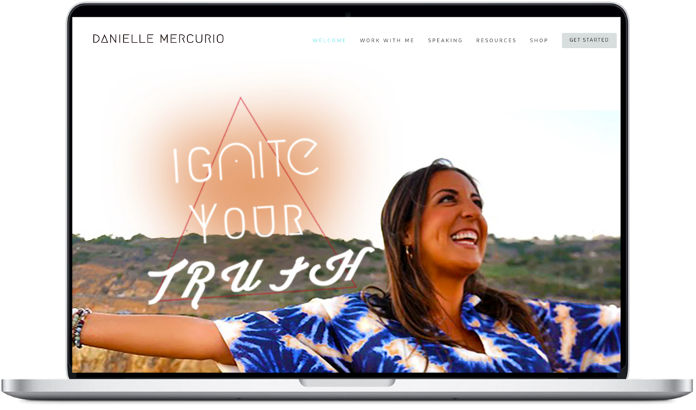 For Danielle Mercurio's branding and design, we took on the task of making over her current website, to better fit the bigger direction and larger audience she was aiming for. This included a photoshoot, redesign of logo, graphics and  website  reconstruction.