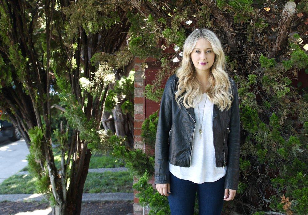 Fall Fashion Trends Leather Jacket | Kaci Nicole
