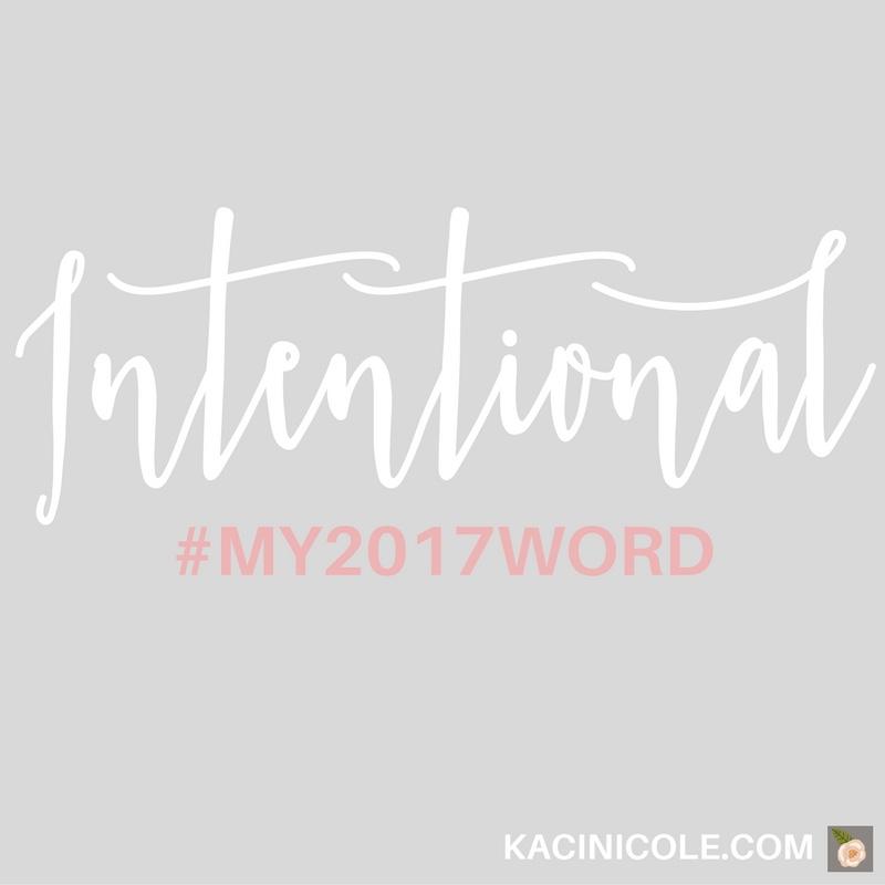 Kaci Nicole - My 2017 Word